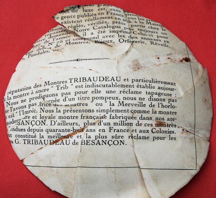 G. Tribaudeau de Besançon Montre10