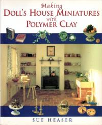 Livre making doll's house miniature with polymer clay Making10