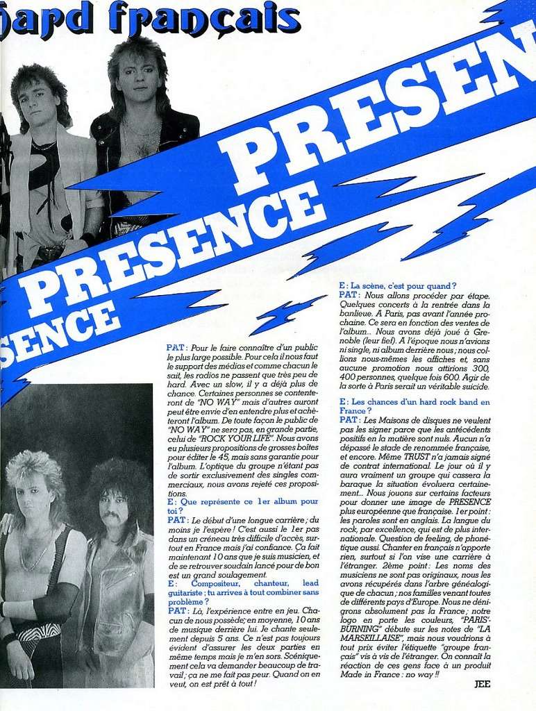 PRESENCE Rock Your Life (1986-2015) Glam Rock Enf41011