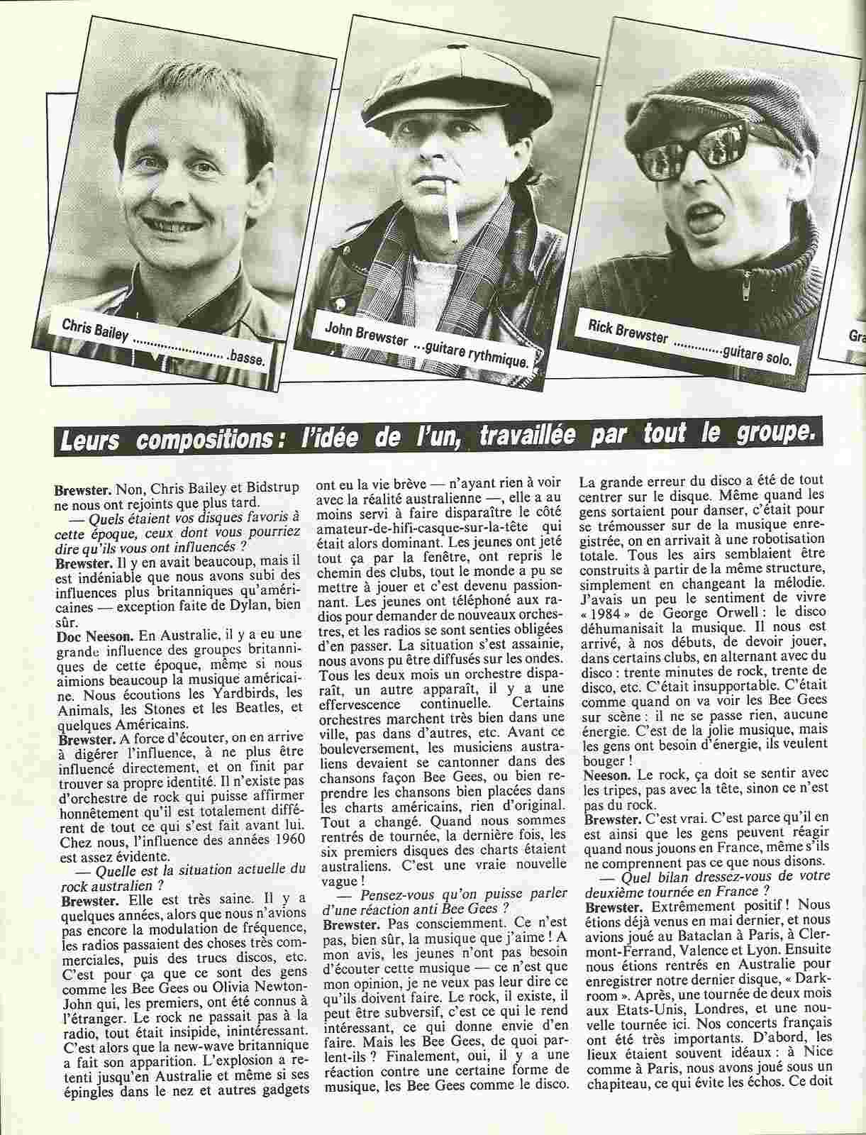 Interview ANGEL CITY dans Guitare Magazine de Février 1981. Numyri19