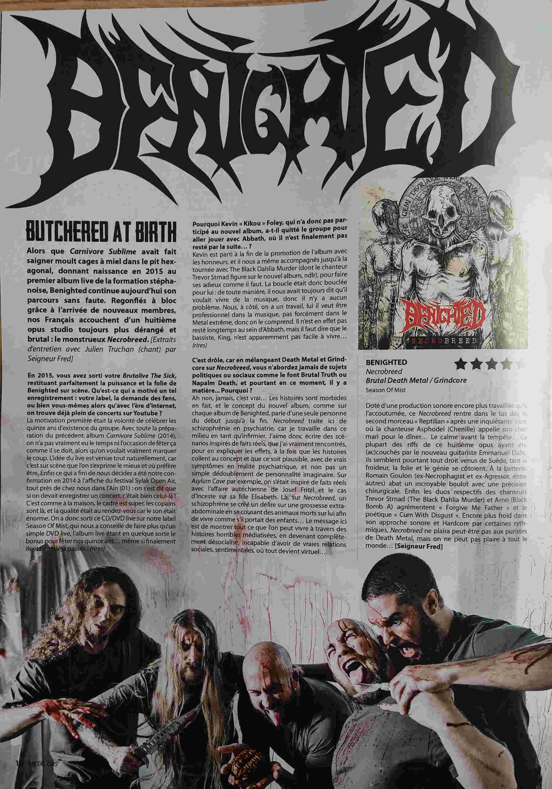 BENIGHTED Necrobreed (2017) Brutal Death Metal Overki11