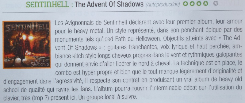 SENTINHELL The Advent Of Shadows (2013) (heavy metal) P1120911
