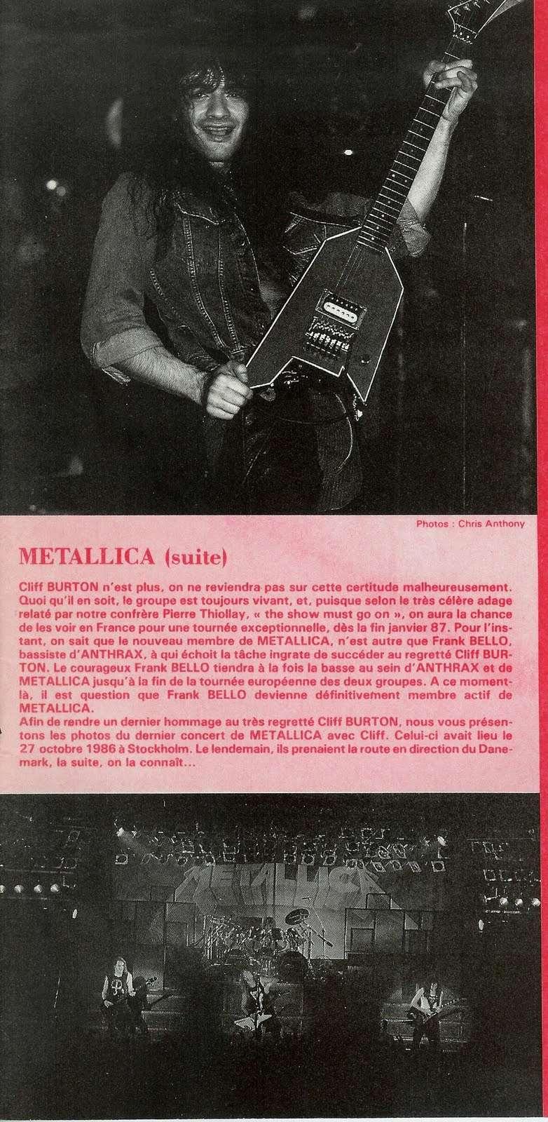 Quand Frank Bello (Bassiste d'ANTHRAX) jouait chez METALLICA ...  Scan0010