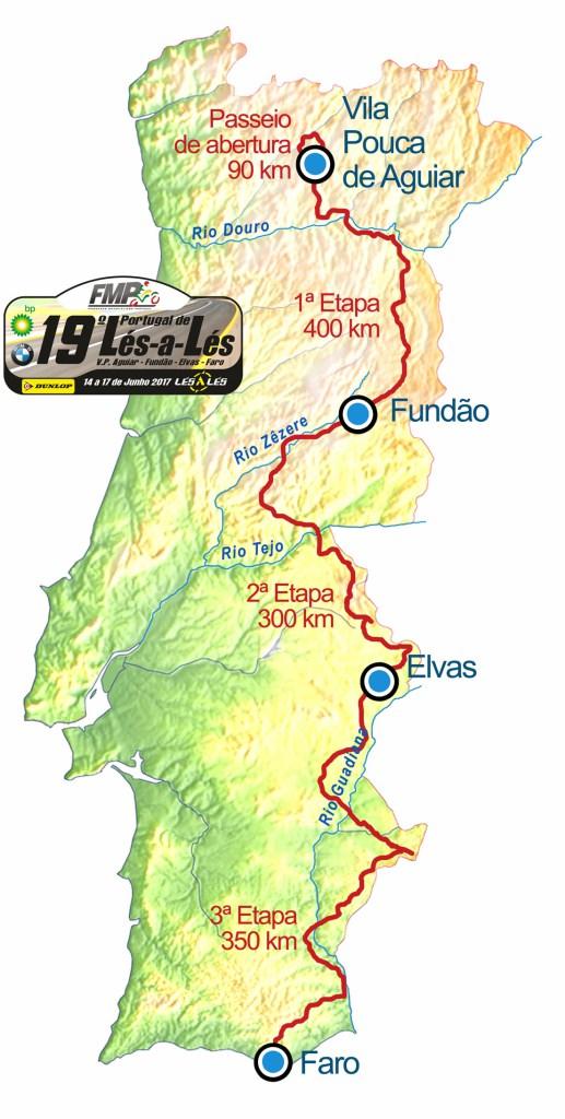 19º Portugal de Lés-a-lés-14 a 17 de junho-V.P. de Aguiar>Faro Mapa-l10