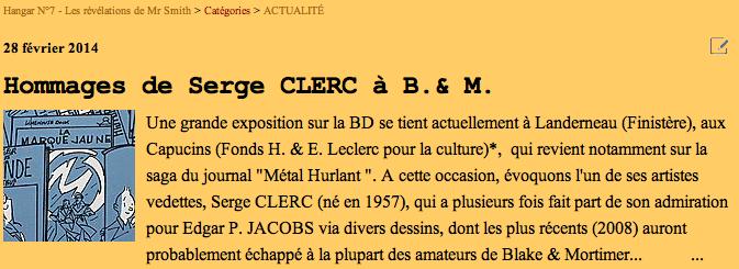 Pleins feux sur Edgar Pierre JACOBS et Blake et Mortimer (2ème partie en cours) - Page 3 Clerc-10