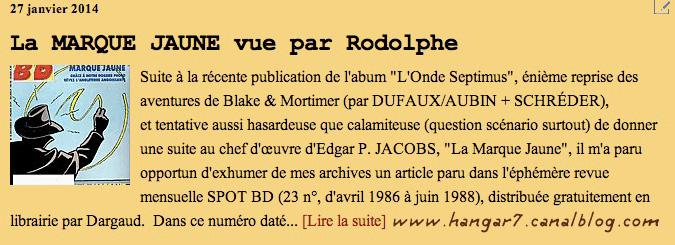 Pleins feux sur Edgar Pierre JACOBS et Blake et Mortimer (2ème partie en cours) - Page 2 Rodoph10