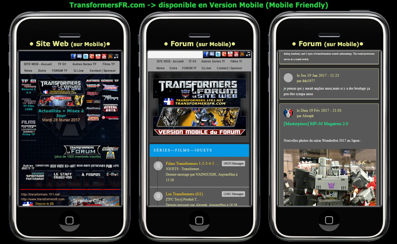 FAQ - Forum Transformers et Site web Mobile12