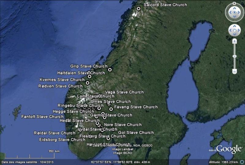 Stavkirke de Heddal (église en bois debout) - Telemark - Notodden - Norvège Stav10