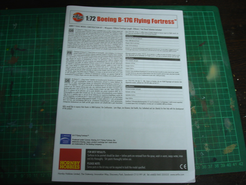 Boeing B-17G Flying fortress 1/72 Airfix Dsc00175