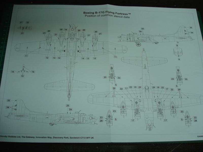 Boeing B-17G Flying fortress 1/72 Airfix Dsc00176