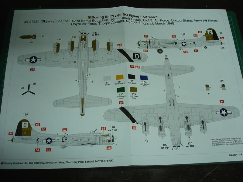 Boeing B-17G Flying fortress 1/72 Airfix Dsc00177