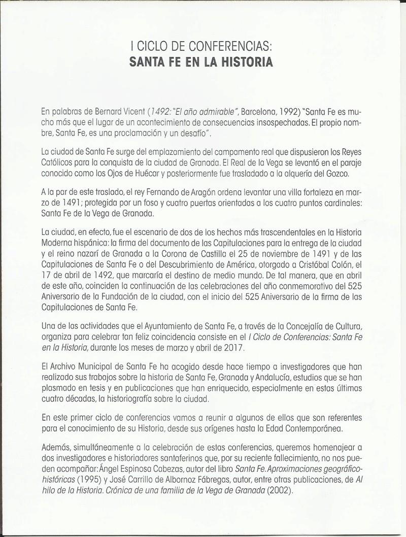 I CICLO DE CONFERENCIAS MARZO Y ABRIL 2017 (SANTA FE EN LA HISTORIA) I_cicl11