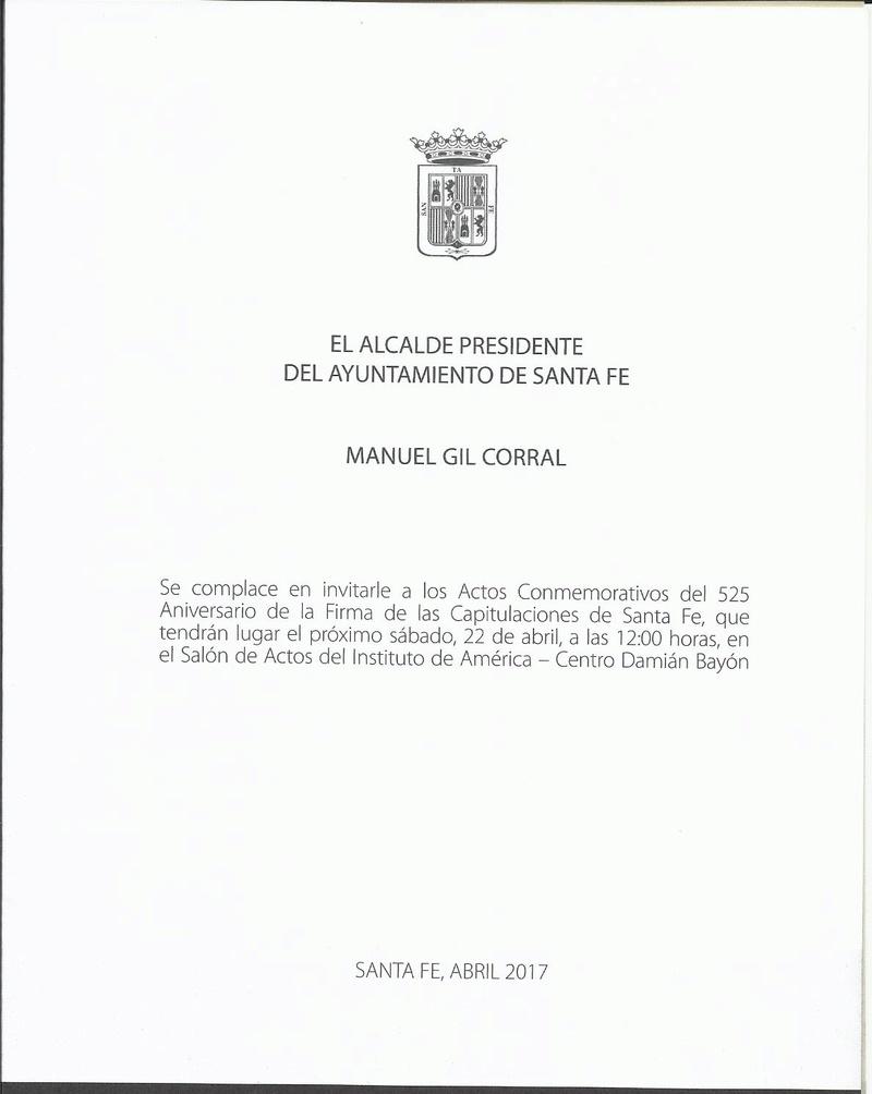 PROGRAMA DE ACTOS CAPITULACIONES DE SANTA FE ABRIL 2017 Progra10
