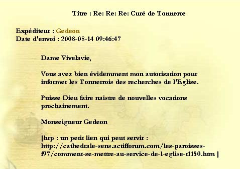 [Archive] Messages de Monseigneur Gedeon Repons10