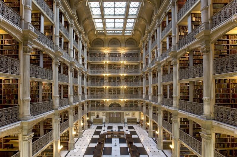 Des bibliothèques prestigieuses. A96