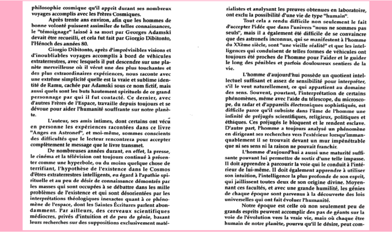 UNE EXPERIENCE VECUE PAR L'ITALIEN GIORGIO DIBITONTO - CONTACT du 3ème TYPE... Prefac10