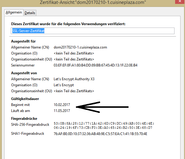 [Update] Verfügbarkeit der SSL-Zertifikate jetzt für alle Forumieren-Foren Unbena12