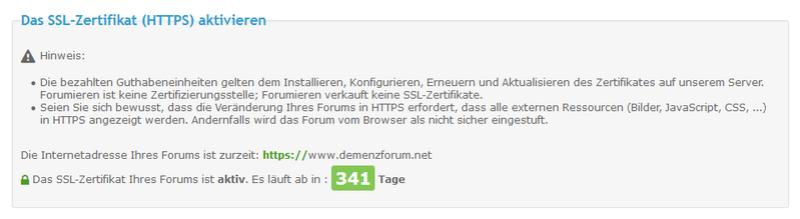 [Update] Verfügbarkeit der SSL-Zertifikate jetzt für alle Forumieren-Foren Unbena13