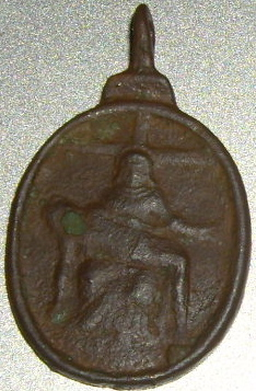 Médaille Pieta Vierge Marie et Ostensoir - XVIIème Imgp9511