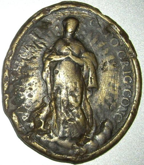 Médaille Vierge et St-Louis-de-Gonzague - XVIIIème Imgp9625