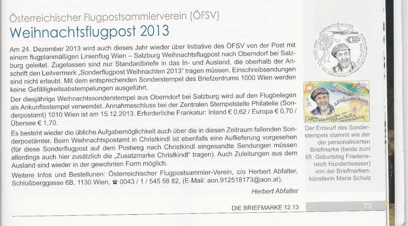 Weihnachtsflugpost 2013 Österrreich Scan11