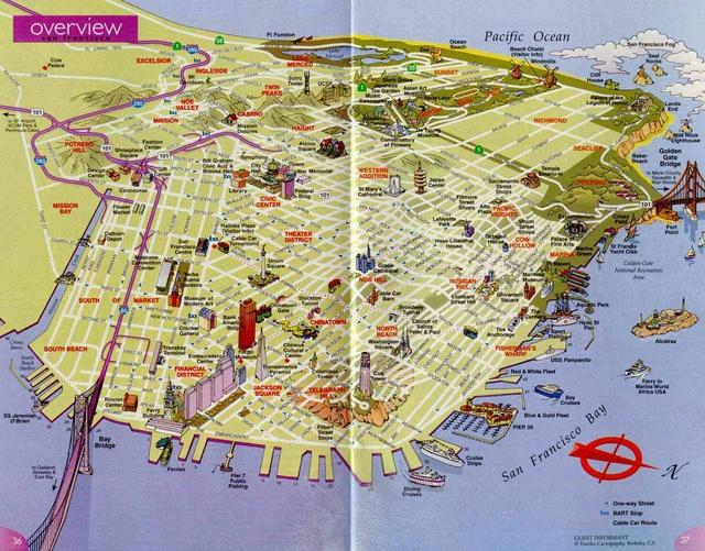 Сан-Франциско: карта города E3324f11