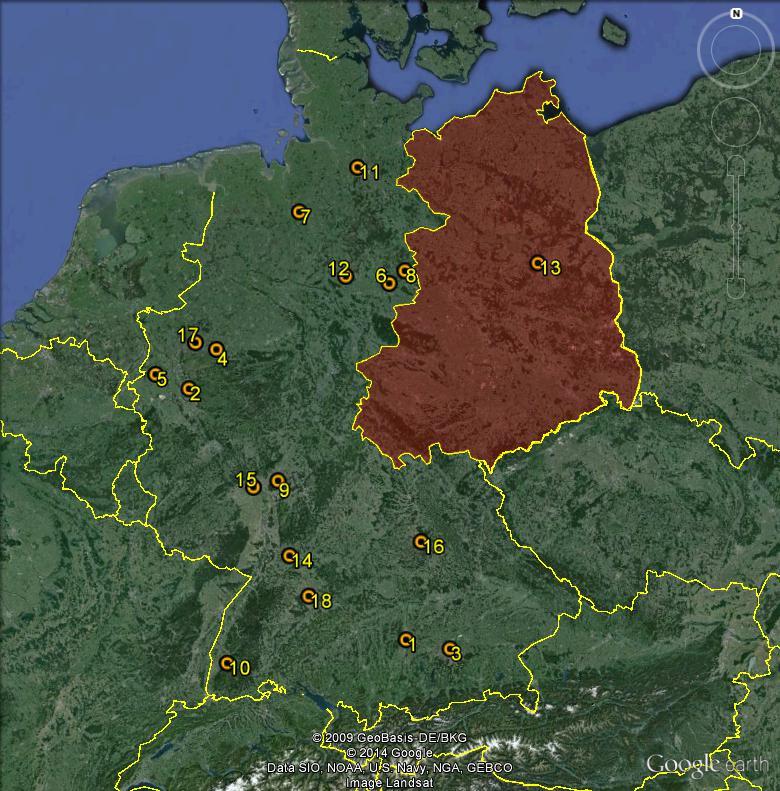 Petite géographie du football européen (championnat 2013-2014... et suivants) Bundes13