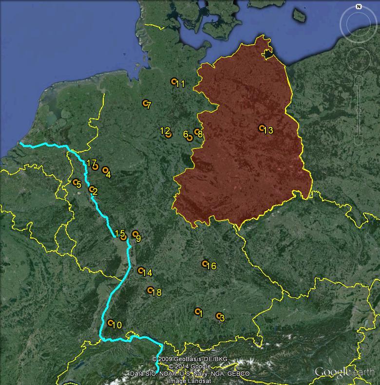 Petite géographie du football européen (championnat 2013-2014... et suivants) Bundes14