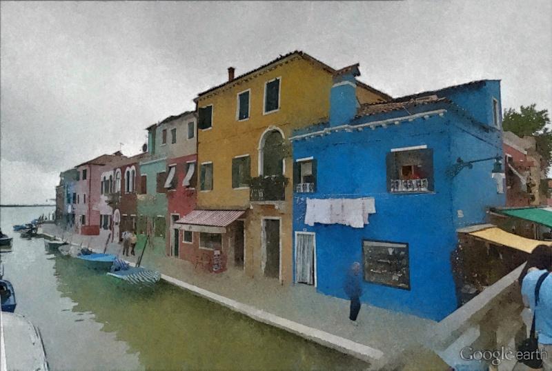 STREET VIEW en version pinceaux, fusain et crayons - Page 2 Burano18