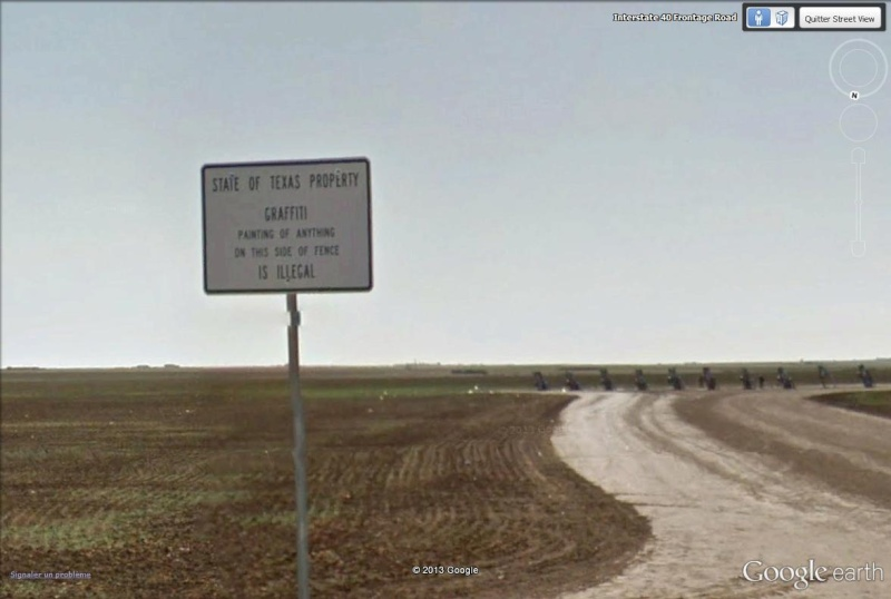 Cadillac ranch, Amarillo, Texas - USA Cadill10