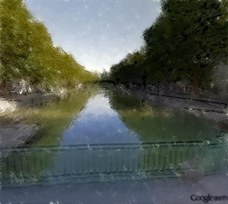 STREET VIEW en version pinceaux, fusain et crayons - Page 3 Canal_10