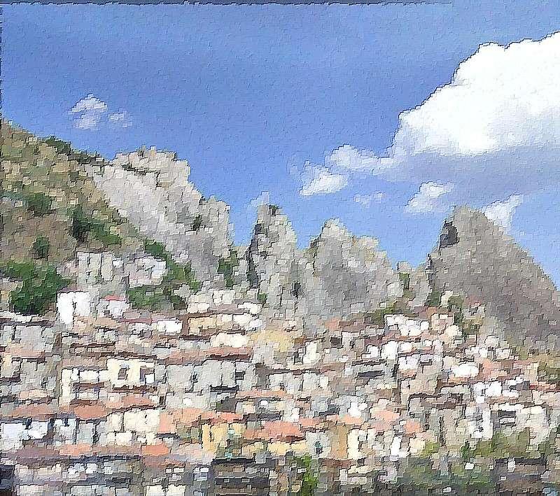 STREET VIEW en version pinceaux, fusain et crayons - Page 2 Castel10