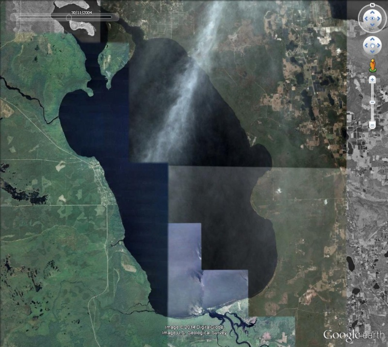 Bassin de 6km sur 5 dans un lac de Floride Collag12