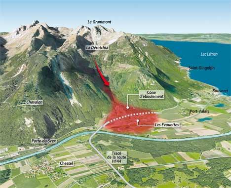 L'effondrement du Tauredunum en l'an 563 (Valais, Suisse) Evouet12