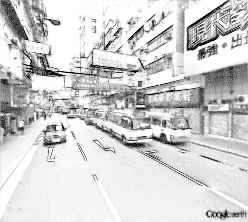 STREET VIEW en version pinceaux, fusain et crayons - Page 2 Hong_k10