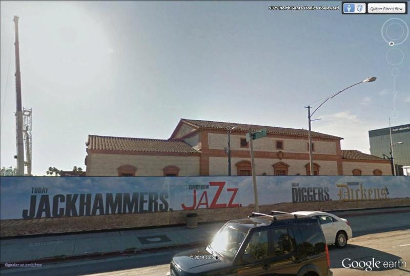 STREET VIEW : les palissades de chantier du Wallis Annenberg Center, Beverly Hills, Californie La310