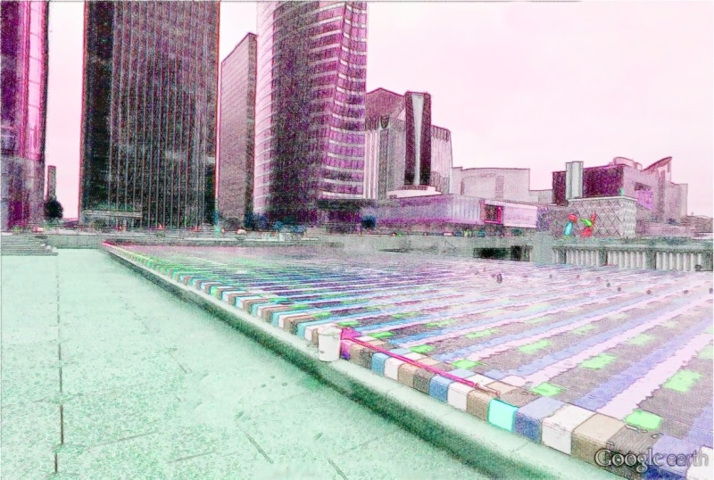 STREET VIEW en version pinceaux, fusain et crayons La_daf10