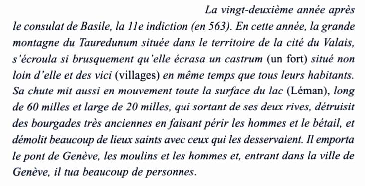 L'effondrement du Tauredunum en l'an 563 (Valais, Suisse) Marius10