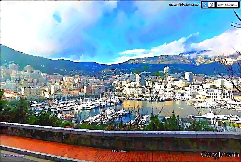 STREET VIEW en version pinceaux, fusain et crayons - Page 2 Monaco13