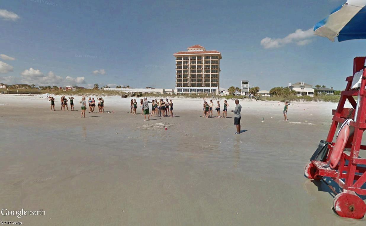 STREET VIEW : course de relais sur la plage d'Atlantic Beach en Floride Relais10