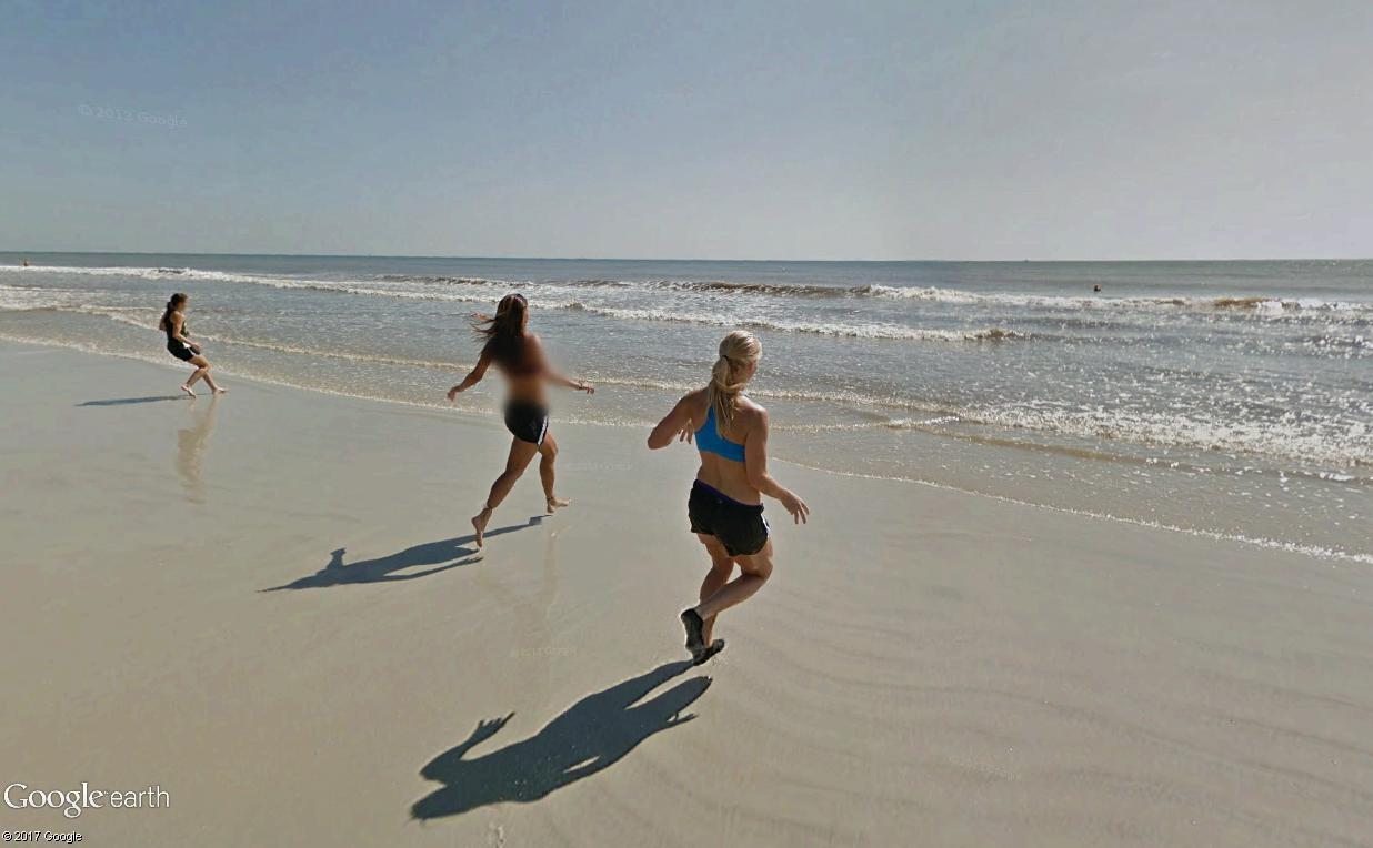STREET VIEW : course de relais sur la plage d'Atlantic Beach en Floride Relais11