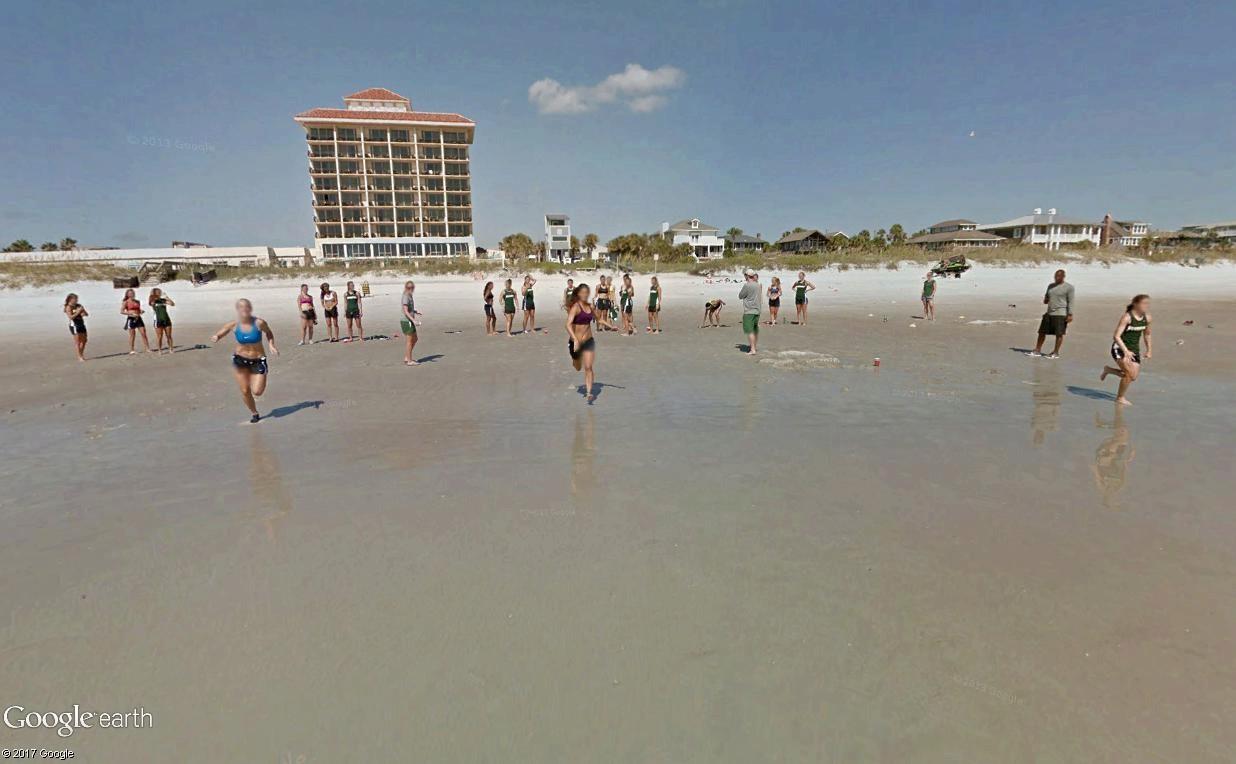 STREET VIEW : course de relais sur la plage d'Atlantic Beach en Floride Relais12