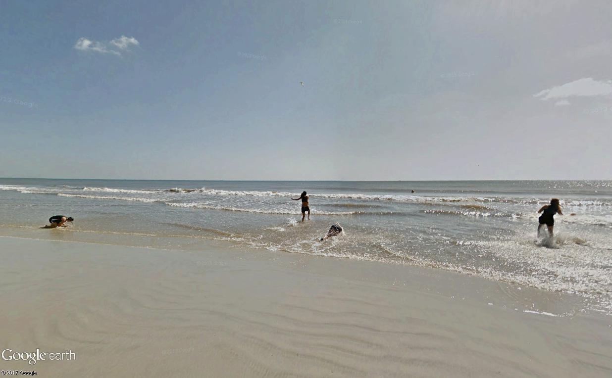 STREET VIEW : course de relais sur la plage d'Atlantic Beach en Floride Relais13