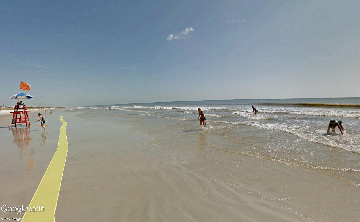 STREET VIEW : course de relais sur la plage d'Atlantic Beach en Floride Relais15