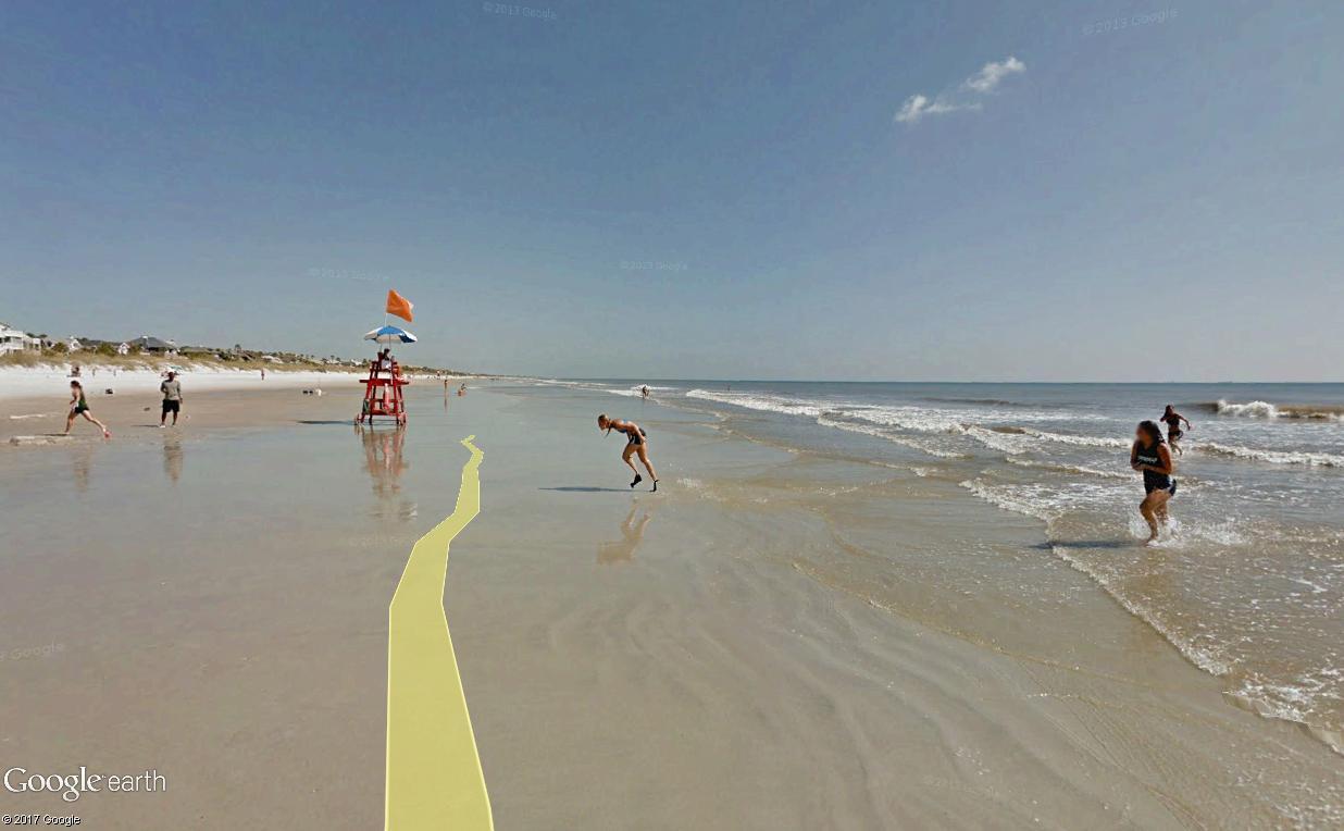 STREET VIEW : course de relais sur la plage d'Atlantic Beach en Floride Relais16