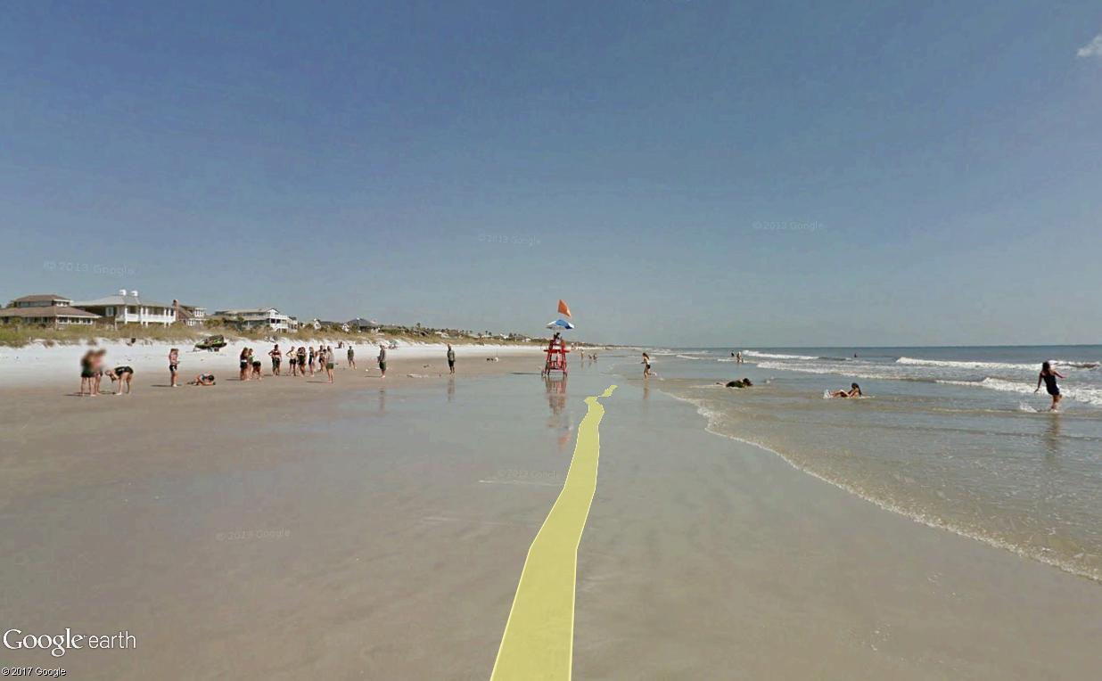 STREET VIEW : course de relais sur la plage d'Atlantic Beach en Floride Relais19