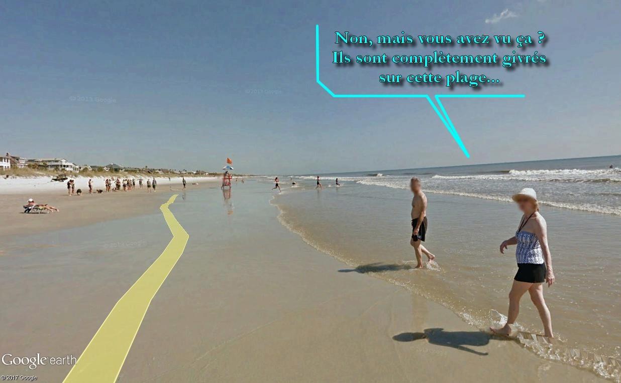 STREET VIEW : course de relais sur la plage d'Atlantic Beach en Floride Relais20