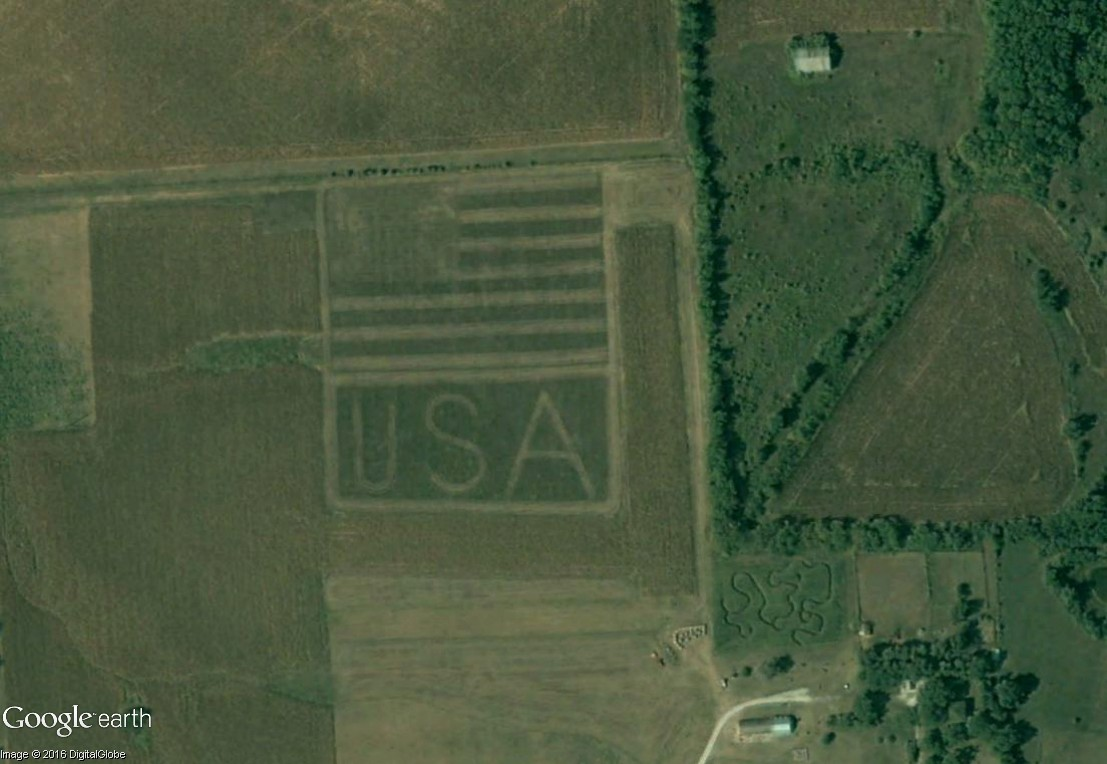 Les labyrinthes découverts dans Google Earth Usa10