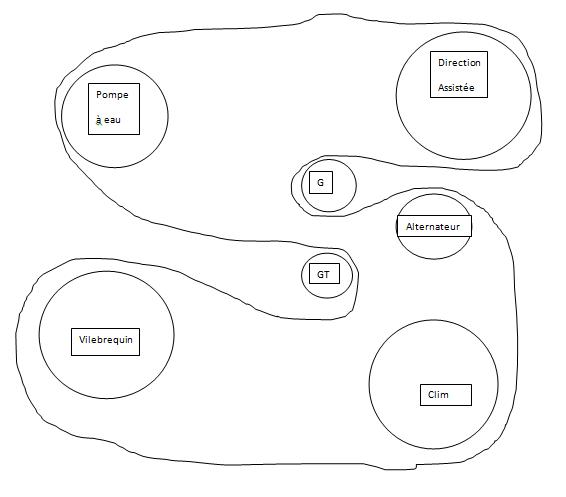 [ Ford Fiesta IV 1.3 an 2001 ] Trajet de la courroie d'accessoires (résolu) Courro11