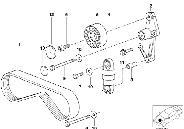 [ BMW E36 320i M52B20 an 1997 ] galet tendeur courroie climatisation (résolu) Courro13